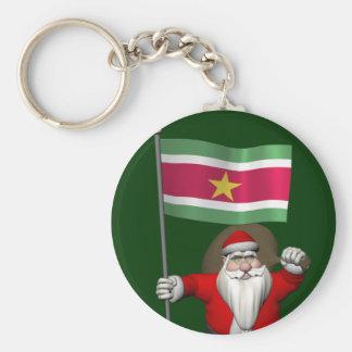 Chaveiro Papai Noel com a bandeira de Suriname