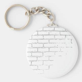Chaveiro Parede de tijolo branca de DIY para escrever