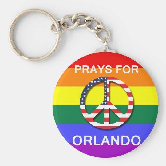 "Chaveiro Peace Keychain 5,7 cm -  "" Prays For Orlando"""