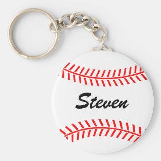 Chaveiro personalizado do basebol com nome feito s