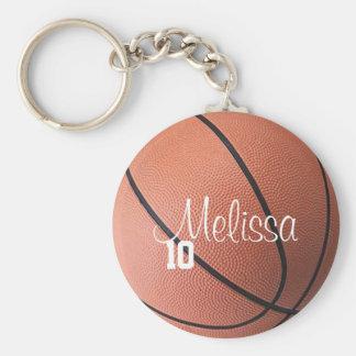 Chaveiro personalizado do basquetebol