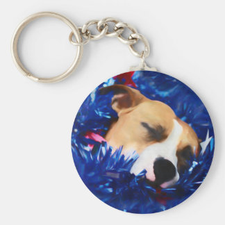 Chaveiro Pitbull americano Terrier do cão patriótico dos