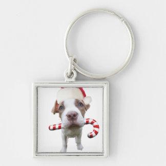 Chaveiro Pitbull do Natal - pitbull do papai noel - cão de