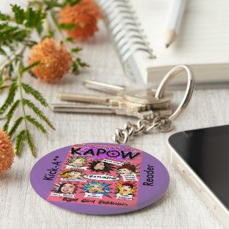 Chaveiro Pontapé A de KAPOW ** corrente chave do leitor -