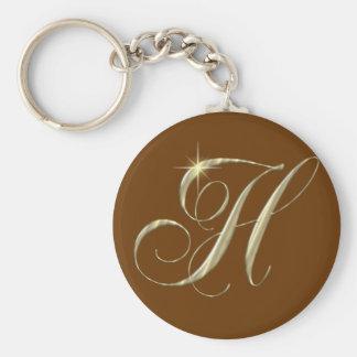 Chaveiro Presente da inicial do monograma da letra H do