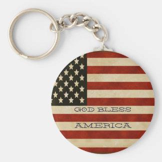 Chaveiro PRESENTES da bandeira americana do vintage