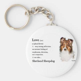 Chaveiro Presentes de Sheltie do Sheepdog de Shetland