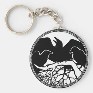 Chaveiro Presentes do corvo/corvo dos animais selvagens do