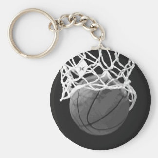 Chaveiro preto & branco do basquetebol