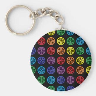 Chaveiro Preto do Bullseye do arco-íris