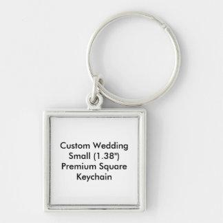 Chaveiro quadrado pequeno Keyring do casamento