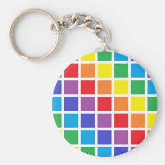 Chaveiro Quadrados do arco-íris