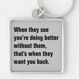 Chaveiro Quando vêem você está fazendo melhor…