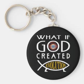 Chaveiro Que se o deus criou a evolução? Design inteligente