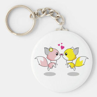 Chaveiro Raposas bonitos em desenhos animados do amor