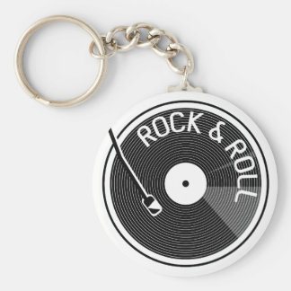 Chaveiro Registro de vinil do rock and roll