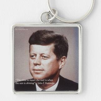 Chaveiro Reparo de JFK as citações famosas do telhado