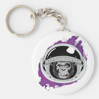 Chaveiro Roxo do macaco do espaço