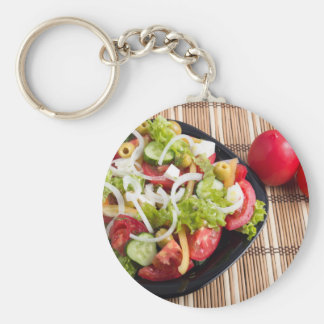 Chaveiro Salada vegetal útil e natural do tomate