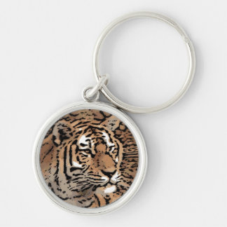 Chaveiro selvagem artístico da lembrança do tigre