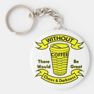 Chaveiro Sem café haveria um caos & uma escuridão