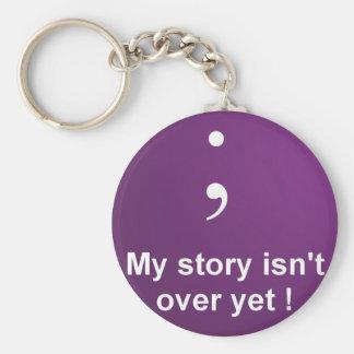 """Chaveiro Semicolon - """"minha história não está sobre ainda"""""""