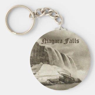 Chaveiro Sepia antigo de Niagara Falls