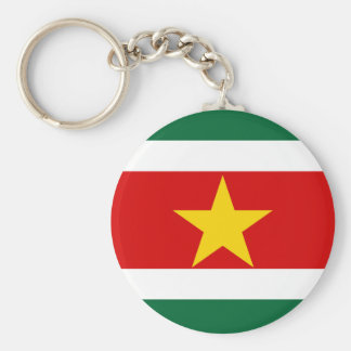 Chaveiro símbolo da nação da bandeira de país de suriname