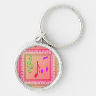 Chaveiro Símbolos musicais de dança