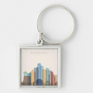 Chaveiro Skyline da cidade de Vancôver, Canadá  