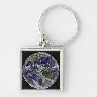 Chaveiro Terra completa que mostra America do Norte e Amer