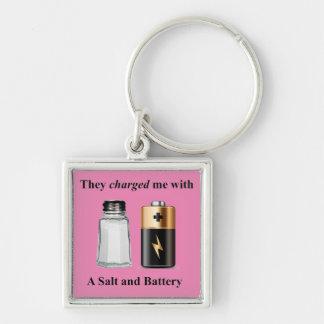 Chaveiro Um assalto de sal e de bateria e bateria