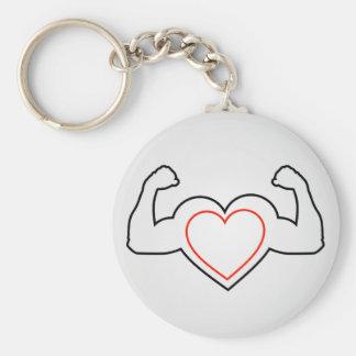 Chaveiro Um coração com dobramento do coração saudável dos