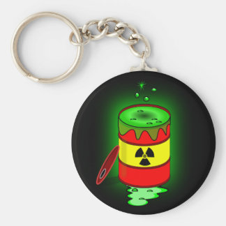 Chaveiro Um tambor do desperdício tóxico