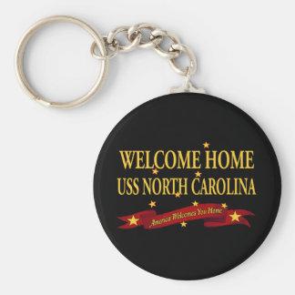 Chaveiro USS Home bem-vindo North Carolina