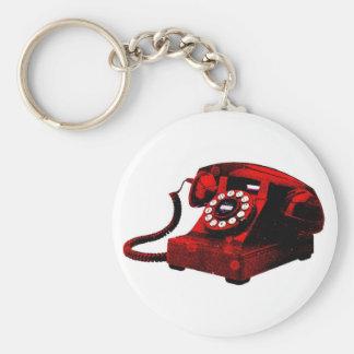 Chaveiro velho da caixa de telefone da mesa do pop
