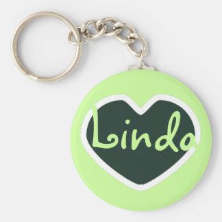 chaveiro verde do nome do coração
