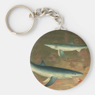 Chaveiro Vida aquática marinha dos peixes comer do tubarão