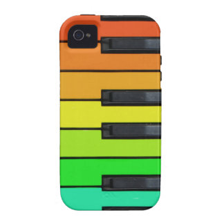 chaves coloridas do piano de iPhone/iPad Capinhas iPhone 4/4S