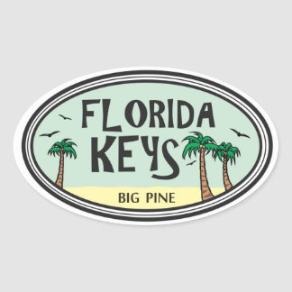 Chaves de Florida Adesivo Oval