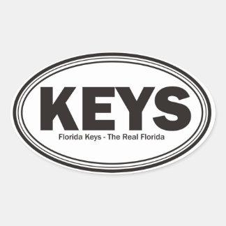 Chaves de Florida Adesivos Ovais