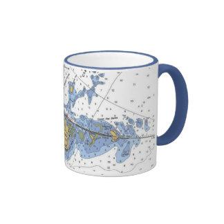 Chaves de Florida, caneca de café náutica chave da