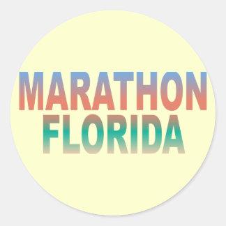 Chaves de Florida da maratona Adesivo