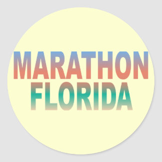 Chaves de Florida da maratona Adesivo Em Formato Redondo