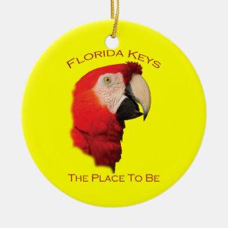 Chaves de Florida Ornamento De Cerâmica Redondo