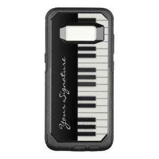 Chaves do piano com assinatura capa OtterBox commuter para samsung galaxy s8