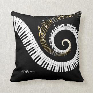 Chaves do piano e notas personalizadas da música travesseiro