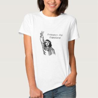 Che Guevara, liberdade de Palestina! Camiseta