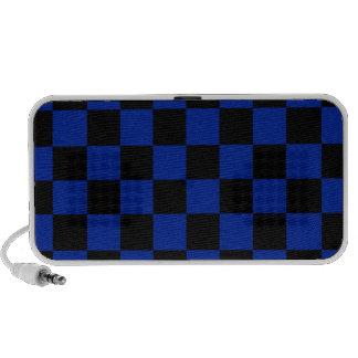 Checkered - azul preto e imperial caixinha de som para iPod