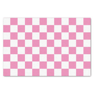 Checkered cor-de-rosa papel de seda